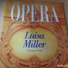 Libros de segunda mano: OPERA: LUISA MILLER (NUM. 29) - GIUSEPPE VERDI (EN ESPAÑOL). Lote 164901558