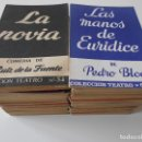 Libros de segunda mano: COLECCION TEATRO. COLECCION ALFIL, PREMIO NACIONAL DE TEATRO. LOTE DE 48 LIBROS. EDICIONES ESCELICE. Lote 165005582