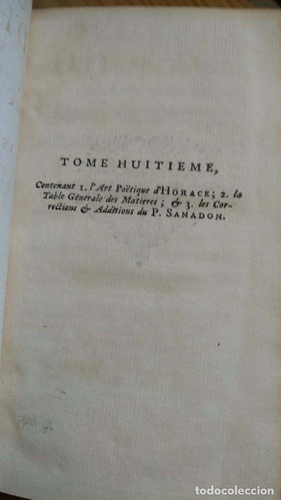 Libros de segunda mano: Antiguo libro de 1735 de Horacio, Impreso en amsterdam, En francés. - Foto 4 - 166535658