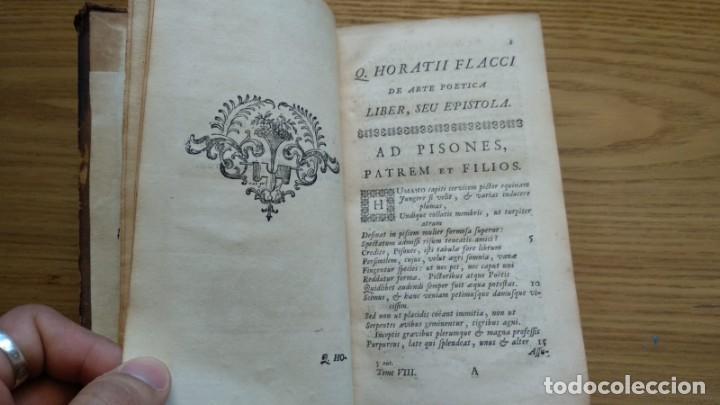 Libros de segunda mano: Antiguo libro de 1735 de Horacio, Impreso en amsterdam, En francés. - Foto 5 - 166535658