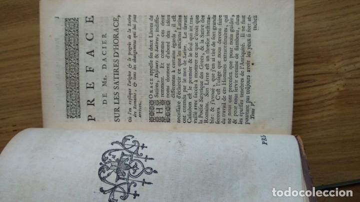 Libros de segunda mano: Antiguo libro de 1735 de Horacio, Impreso en amsterdam, En francés. - Foto 8 - 166535658