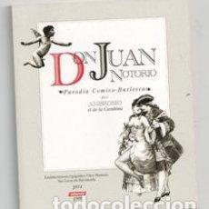 Libros de segunda mano: DON JUAN NOTORIO, AMBROSIO EL DE LA CARABINA. Lote 167301806