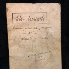 Libros de segunda mano: PIEZA UNICA, ORIGINAL MANUSCRITO, OBRA DE TEATRO, ELS BURINOTS, COMEDIA EN UN ACTE, PER J.SAGALES. Lote 168573512