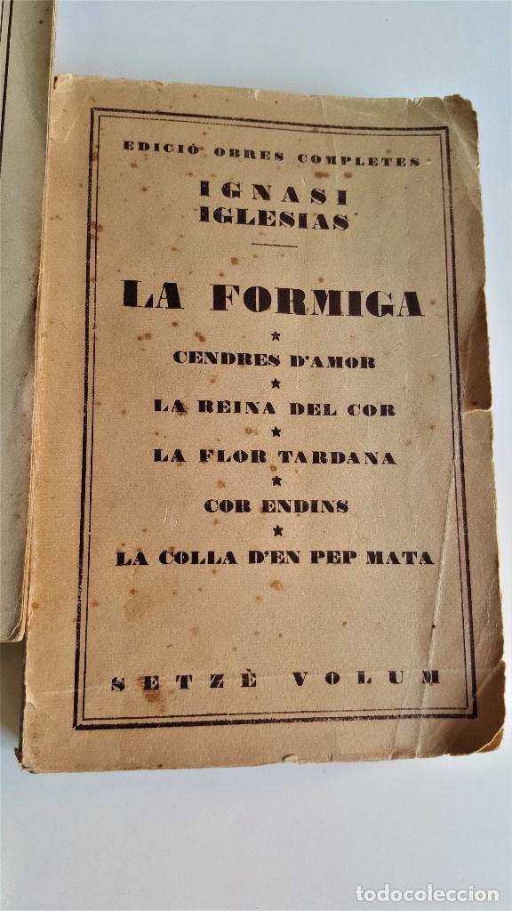 Libros de segunda mano: 1929 EDICIO OBRES COMPLETES DE IGNASI IGLESIAS - 2 TOMOS DE 17 - EN CATALAN - Foto 6 - 168749184