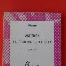 Libros de segunda mano: ANFITRIÓN - LA COMEDIA DE LA OLLA. PLAUTO. COLECCIÓN AUSTRAL Nº1388 2ªED. 1973 ESPASA CALPE. Lote 131305931