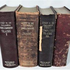 Libros de segunda mano: OBRES COMPLETES TEATRE. J. M. DE SAGARRA. 4 TOMOS. EDIT. SELECTA. BARCELONA. 1948/1964.. Lote 169662732