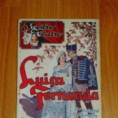 Libros de segunda mano: ROMERO, FEDERICO. LUISA FERNANDA : COMEDIA LÍRICA EN TRES ACTOS...(NUESTRO TEATRO ; AÑO 2, N. 4) . Lote 169972896