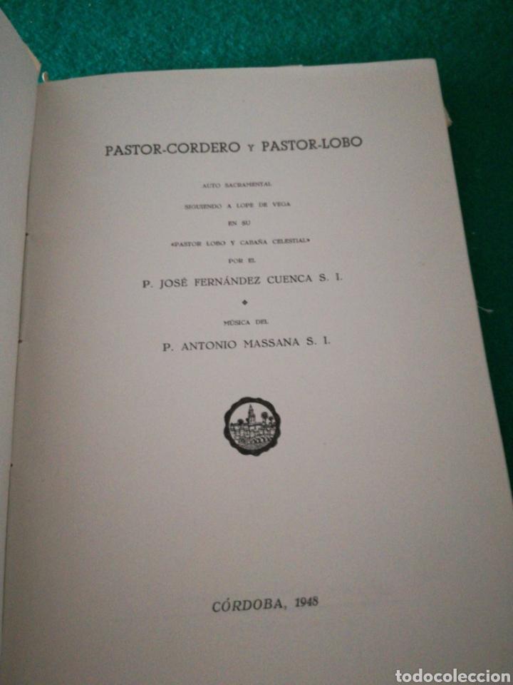 Libros de segunda mano: PASTOR-CORDERO Y PASTOR -LOBO...... TEATRO - Foto 6 - 170200497