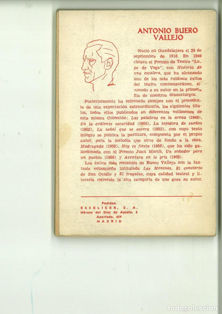Libros de segunda mano: EL TRAGALUZ. Antonio Buero Vallejo - Foto 2 - 171516622