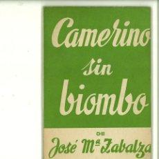 Libros de segunda mano: CAMERINO SIN BIOMBO. JOSÉ Mª ZABALZA. Lote 171520489