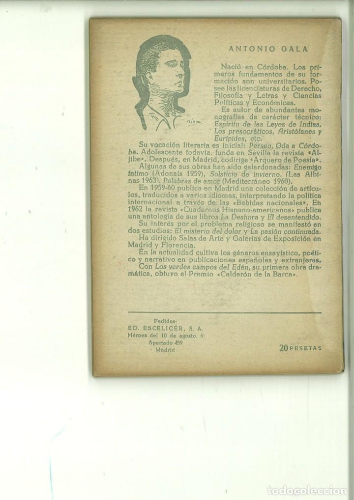 Libros de segunda mano: LOS VERDES CAMPOS DEL EDÉN. Antonio Gala - Foto 2 - 171520918