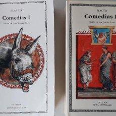 Libros de segunda mano: COMEDIAS TOMOS I Y II - PLAUTO. Lote 171807195