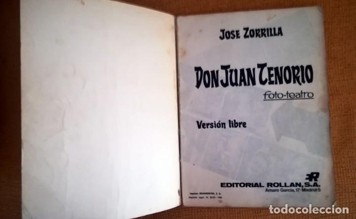 Libros de segunda mano: DON JUAN TENORIO FOTO TEATRO. JOSE ZORRILLA. 1968 - Foto 3 - 172413433