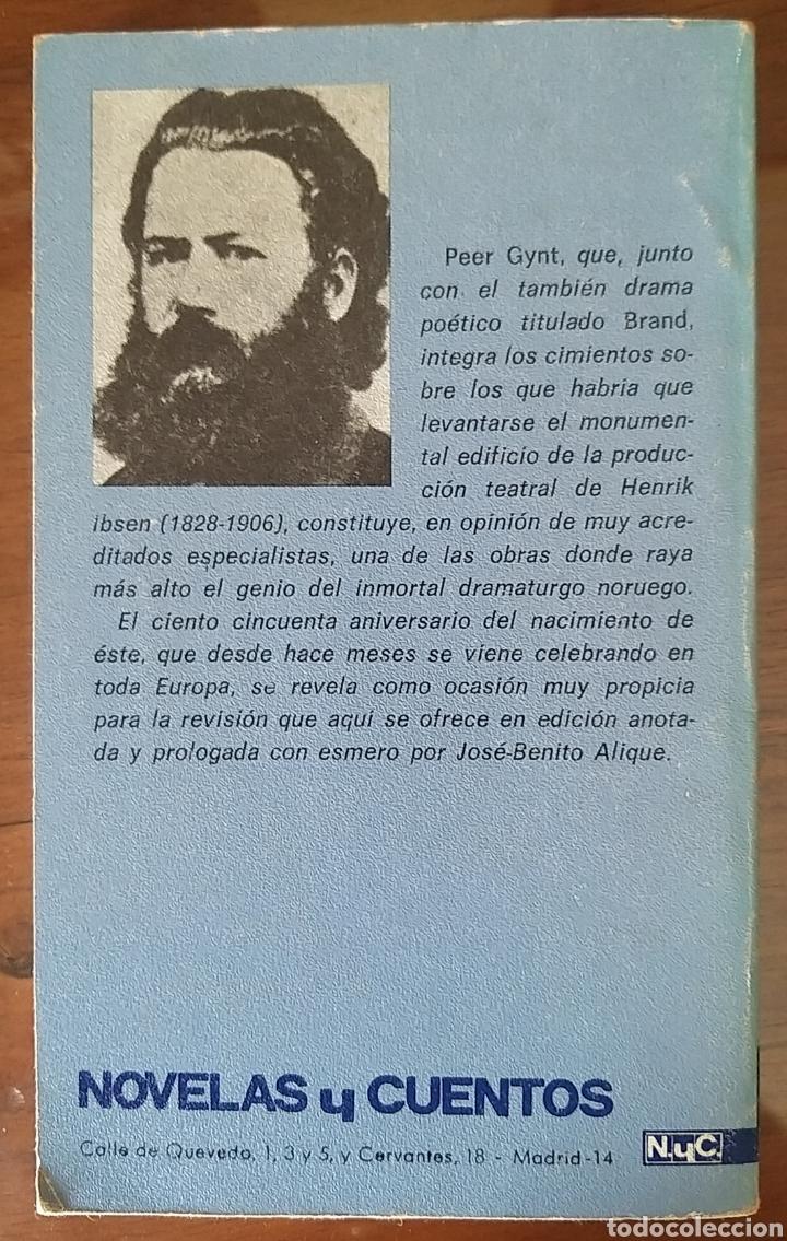 Libros de segunda mano: PEER GYNT. HENRIK IBSEN. LITERATURA NORUEGA. 1978. TEATRO - Foto 2 - 176482008