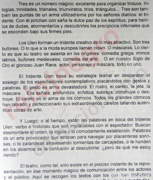 Libros de segunda mano: LOS ULEN - LIBRO PACO TOUS - SANDOVAL QUERO TEATRO ANDALUCÍA JEREMÍAS MANÁ MANÁ BAR DE LÁGRIMAS ARTE - Foto 4 - 176553994
