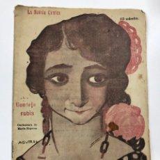 Libros de segunda mano: LA NOVELA COMICA. LA GUEDEJA RUBIA. FIACRO YRAIZOZ. AÑO IV. Nº 167. MADRID, 1919.. Lote 178003582