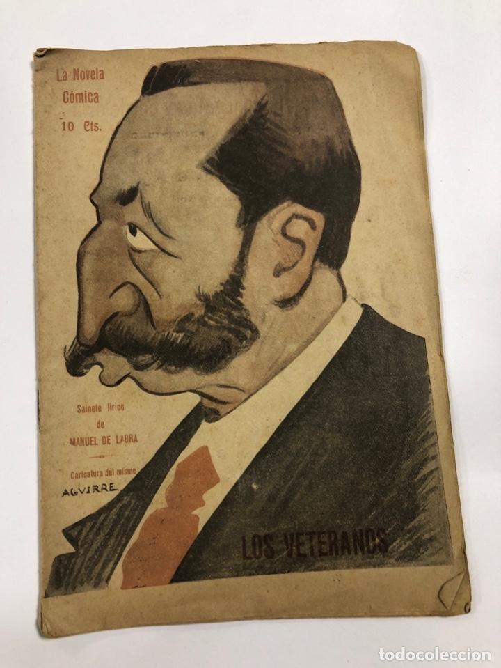 LA NOVELA COMICA. LOS VETERANOS. MANUEL DE LABRA. AÑO IV. Nº 156. MADRID, 1919. (Libros de Segunda Mano (posteriores a 1936) - Literatura - Teatro)