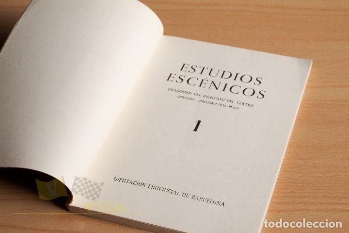 Libros de segunda mano: Estudios Escénicos - Cuadernos del Instituto del Teatro 1 - Guillermo Díaz - Plaja - 1957 - Foto 5 - 178117959