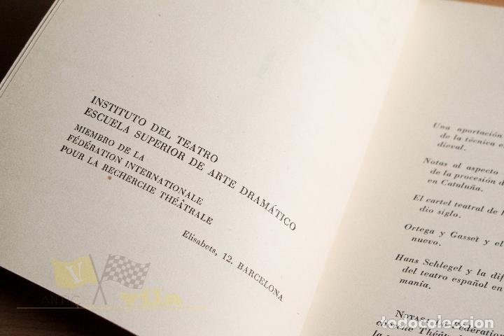 Libros de segunda mano: Estudios Escénicos - Cuadernos del Instituto del Teatro 1 - Guillermo Díaz - Plaja - 1957 - Foto 6 - 178117959
