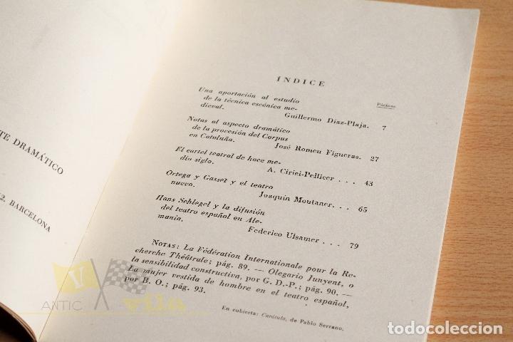 Libros de segunda mano: Estudios Escénicos - Cuadernos del Instituto del Teatro 1 - Guillermo Díaz - Plaja - 1957 - Foto 7 - 178117959