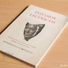 Libros de segunda mano: ESTUDIOS ESCÉNICOS - CUADERNOS DEL INSTITUTO DEL TEATRO 1 - GUILLERMO DÍAZ - PLAJA - 1957. Lote 178117959