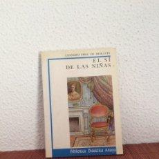 Libros de segunda mano: EL SÍ DE LAS NIÑAS - LEANDRO FERNÁNDEZ DE MORATÍN - ANAYA. Lote 178128247