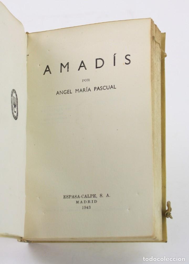 Libros de segunda mano: Amadís, Ángel María Pascual, 1943, Espasa Calpe, Madrid. 18,5x12cm - Foto 2 - 178665321