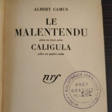 Libros de segunda mano: LE MALENTENDU - ALBERT CAMUS 1957. Lote 178875575