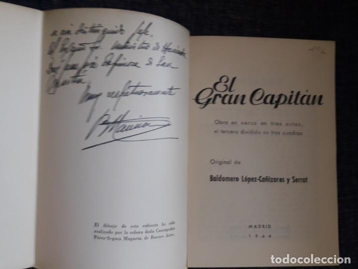 Libros de segunda mano: El gran capitán, con dedicatoria manuscrita al ministro de Hacienda, ver foto - Foto 2 - 178952350