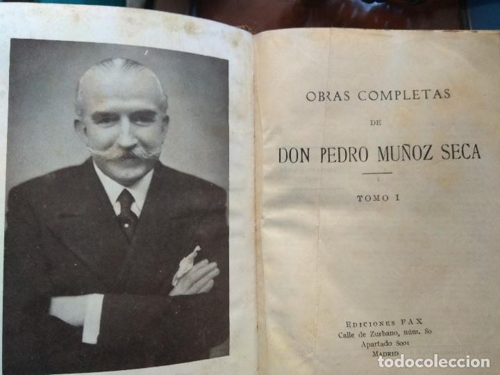 Libros de segunda mano: DON PEDRO MUÑOZ SECA. OBRAS COMPLETAS. EDICIONES FAX, 1947 TOMO I - Foto 3 - 180314157