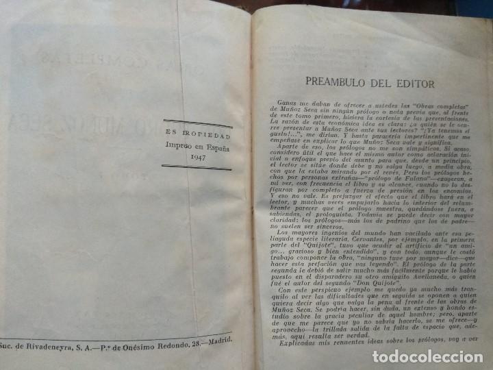 Libros de segunda mano: DON PEDRO MUÑOZ SECA. OBRAS COMPLETAS. EDICIONES FAX, 1947 TOMO I - Foto 4 - 180314157