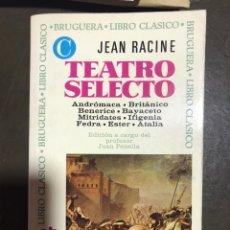 Libros de segunda mano: TEATRO SELECTO JEAN RACINE. Lote 181501323