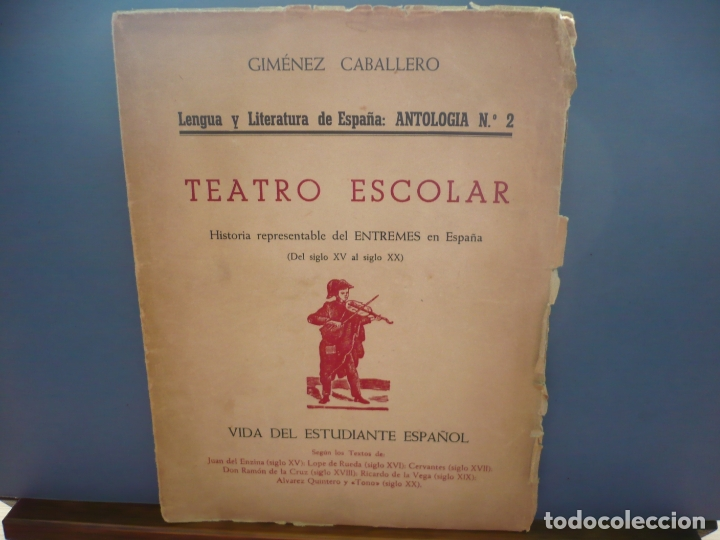 Libros de segunda mano: Teatro Escolar. Giménez Caballero. Intonso. - Foto 2 - 181716393