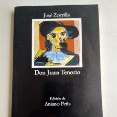 Libros de segunda mano: DON JUAN TENORIO/JOSÉ ZORRILLA. Lote 181909893