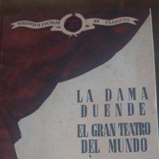 Libros de segunda mano: BIBLIOTECA ESCOLAR DE CLASICOS CALDERÓN DE LA BARCA 1945 EDT. SAETA. Lote 182333061