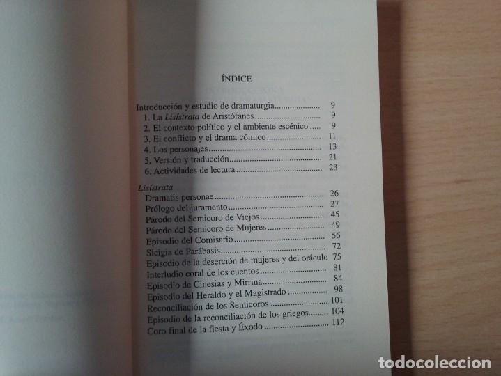 Libros de segunda mano: LISÍSTRATA - ARISTÓFANES (VERSIÓN Y TRADUCCIÓN DE PEDRO SÁENZ ALMEIDA) - Foto 4 - 184353192