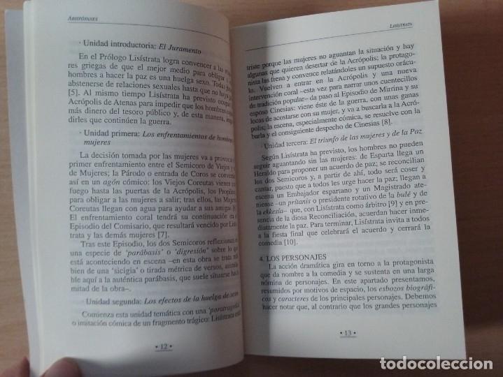 Libros de segunda mano: LISÍSTRATA - ARISTÓFANES (VERSIÓN Y TRADUCCIÓN DE PEDRO SÁENZ ALMEIDA) - Foto 5 - 184353192