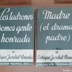 Libros de segunda mano: COLECCIÓN TEATRO. ENRIQUE JARDIEL PONCELA. MADRE. EL DRAMA PADRE. LOS LADRONES SOMOS GENTE HONRADA. Lote 184446185