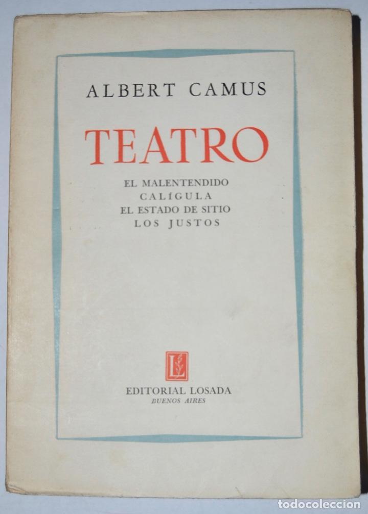 Libros de segunda mano: Lote tres libros Teatro. Marcel Aymé, Albert Camus y Jean Anouilh. Editorial Losada, Buenos Aires - Foto 3 - 184456266
