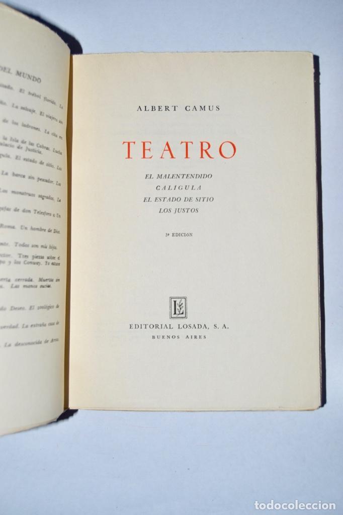 Libros de segunda mano: Lote tres libros Teatro. Marcel Aymé, Albert Camus y Jean Anouilh. Editorial Losada, Buenos Aires - Foto 5 - 184456266