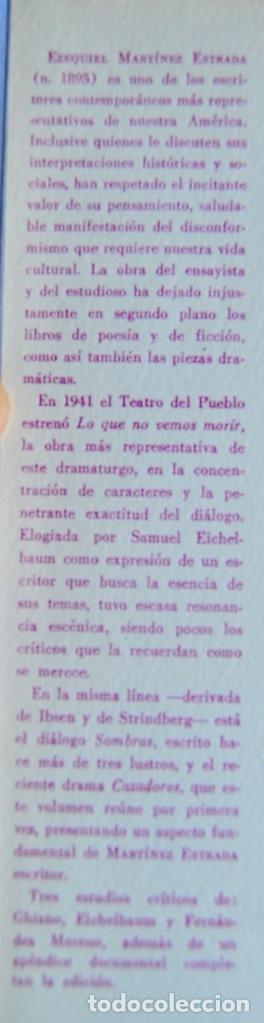 Libros de segunda mano: Ezequiel Martínez Estrada. Tres Dramas. Colección Teatro Argentino. Ed. Losange. Buenos Aires, 1957 - Foto 2 - 186018832