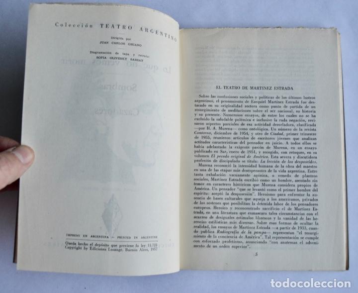 Libros de segunda mano: Ezequiel Martínez Estrada. Tres Dramas. Colección Teatro Argentino. Ed. Losange. Buenos Aires, 1957 - Foto 4 - 186018832