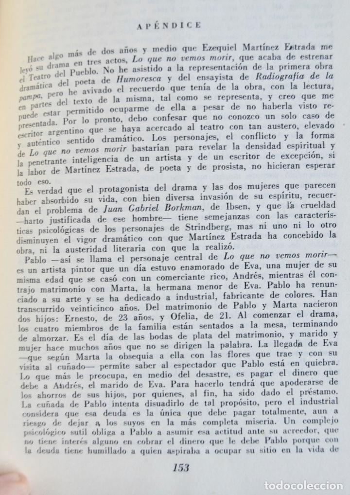 Libros de segunda mano: Ezequiel Martínez Estrada. Tres Dramas. Colección Teatro Argentino. Ed. Losange. Buenos Aires, 1957 - Foto 5 - 186018832