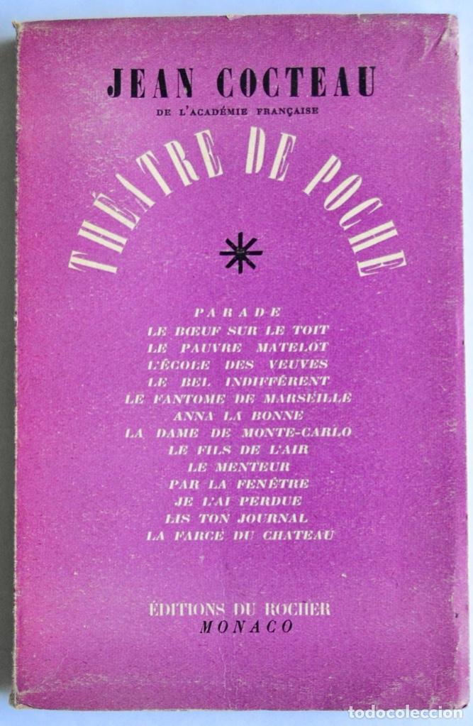 JEAN COCTEAU. THÉATRE DE POCHE. 14 DIBUJOS INÉDITOS. ÉDITIONS DU ROCHER. MÓNACO, 1955 (Libros de Segunda Mano (posteriores a 1936) - Literatura - Teatro)