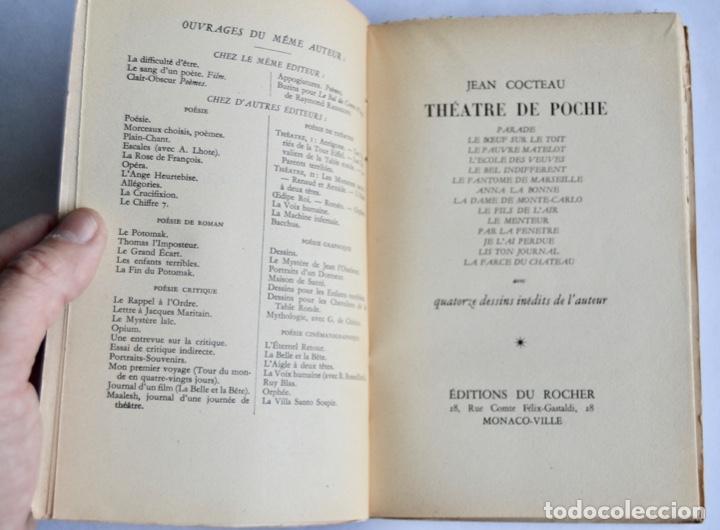 Libros de segunda mano: Jean Cocteau. Théatre de Poche. 14 Dibujos Inéditos. Éditions du Rocher. Mónaco, 1955 - Foto 2 - 186108746