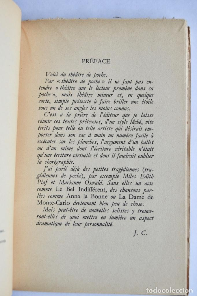 Libros de segunda mano: Jean Cocteau. Théatre de Poche. 14 Dibujos Inéditos. Éditions du Rocher. Mónaco, 1955 - Foto 3 - 186108746