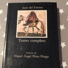 Libros de segunda mano: TEATRO COMPLETO JUAN DEL ENCINA CATEDRA, LEER. Lote 201900400
