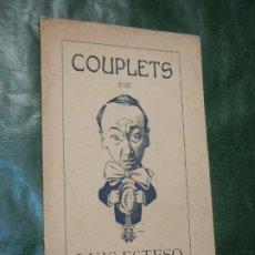 Libros de segunda mano: COUPLETS DE LUIS ESTESO - HACIA 1920. Lote 187530455
