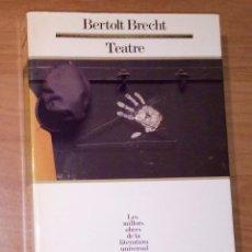 Libros de segunda mano: BERTOLT BRECHT - TEATRE - EDICIONS 62, 1988. Lote 187221892