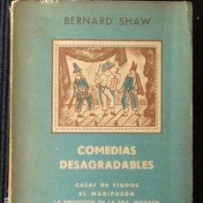 Libros de segunda mano: COMEDIAS DESAGRADABLES. BERNARD SHAW. SUDAMERICANA 1949.. Lote 188489625